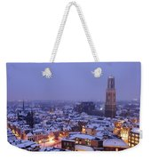 Winter Cityscape Of Utrecht In The Evening 14 Weekender Tote Bag