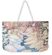Winter Creek 1  Weekender Tote Bag