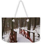 Winter Crossing Weekender Tote Bag