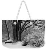 Winter Day - Black And White Weekender Tote Bag