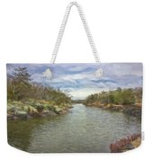 Winter Day On The Canal Weekender Tote Bag
