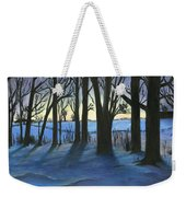Winter Day's End Weekender Tote Bag