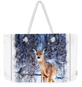 Winter Deer 1 Weekender Tote Bag