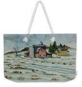 Winter Down On The Farm Weekender Tote Bag by Charlotte Blanchard