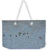 Winter Ducks Swimming Away  Weekender Tote Bag