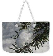 Winter Evergreen Weekender Tote Bag