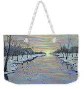 Winter Expression Sunrise Weekender Tote Bag