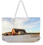 Winter Farm Weekender Tote Bag