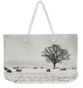 Winter Field Weekender Tote Bag