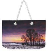 Winter Fields Weekender Tote Bag