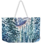 Winter Forest And Mountains Weekender Tote Bag
