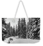 Winter Forest Journey Weekender Tote Bag