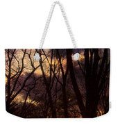 Winter Forest Sunrise Weekender Tote Bag