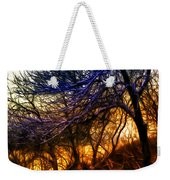 Winter Forest Sunset Oil Style Weekender Tote Bag