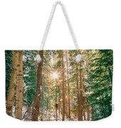 Winter Forest Sunshine Weekender Tote Bag