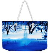 Winter Fountain 2 Weekender Tote Bag