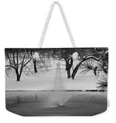 Winter Fountain Weekender Tote Bag