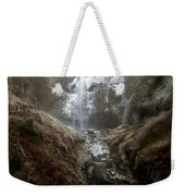 Winter Freeze At Multnomah Falls Weekender Tote Bag