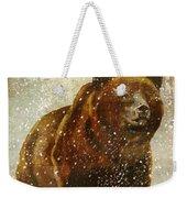 Winter Game Bear Weekender Tote Bag