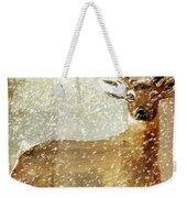 Winter Game Deer Weekender Tote Bag