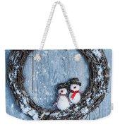 Winter Garland Weekender Tote Bag