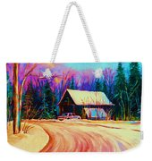 Winter Getaway Weekender Tote Bag