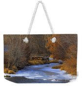 Winter Gold On The Yakima River Weekender Tote Bag