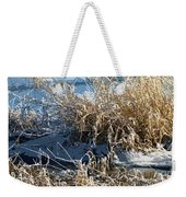 Winter Grass Weekender Tote Bag