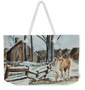 Winter Grazing  Weekender Tote Bag by Charlotte Blanchard