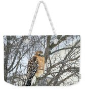 Winter Hawk Weekender Tote Bag