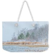 Winter Hoarfrost On The River Weekender Tote Bag
