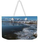 Winter Ice Flows Weekender Tote Bag