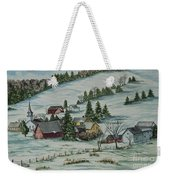 Winter In East Chatham Vermont Weekender Tote Bag
