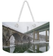 Winter In East Falls Along The Schuylkill River Weekender Tote Bag