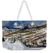 Winter In East Vail Weekender Tote Bag