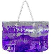 Winter In Purple And Silver Weekender Tote Bag