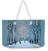 Winter In The City Park Weekender Tote Bag