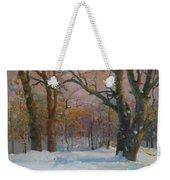 Winter In The Wood Weekender Tote Bag