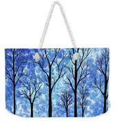 Winter In The Woods Abstract Weekender Tote Bag