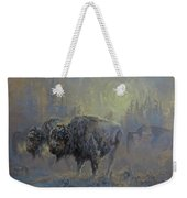Winter In Yellowstone Weekender Tote Bag
