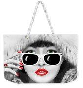 Winter Lady Weekender Tote Bag