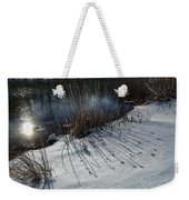 Winter Lake View Weekender Tote Bag