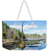 Winter Lake View Weekender Tote Bag by George Randy Bass