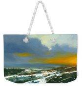 Winter Lake View Weekender Tote Bag