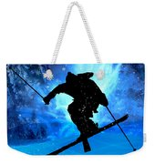 Winter Landscape And Freestyle Skier Weekender Tote Bag