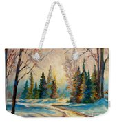 Winter Landscape Knowlton Quebec Weekender Tote Bag