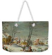 Winter Landscape Of A Village Weekender Tote Bag