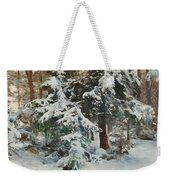 Winter Landscape With Hunters And Dogs Weekender Tote Bag