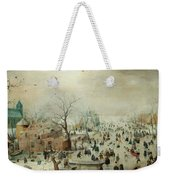 Winter Landscape With Ice Skaters1608 Weekender Tote Bag