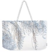 Winter Landscape With Snow-covered Trees Weekender Tote Bag